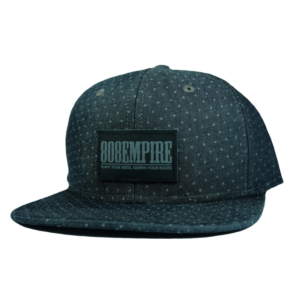 """Adams"" Black Demin Dobby Snapback By 808 Empire"