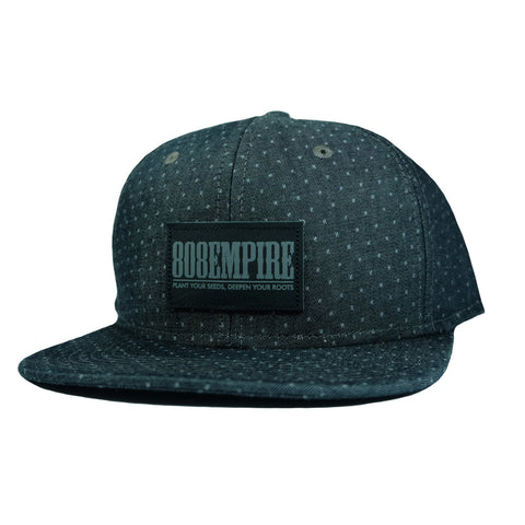 """Adams"" Black Demin Dobby Snapback By 808 Empire  8/9"