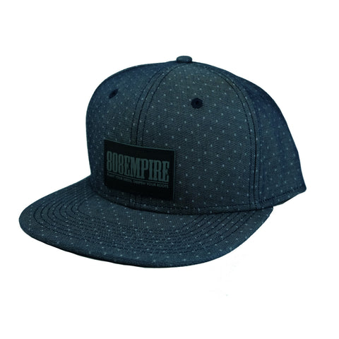 """Adams"" Navy Demin Dobby Snapback 808 Empire"