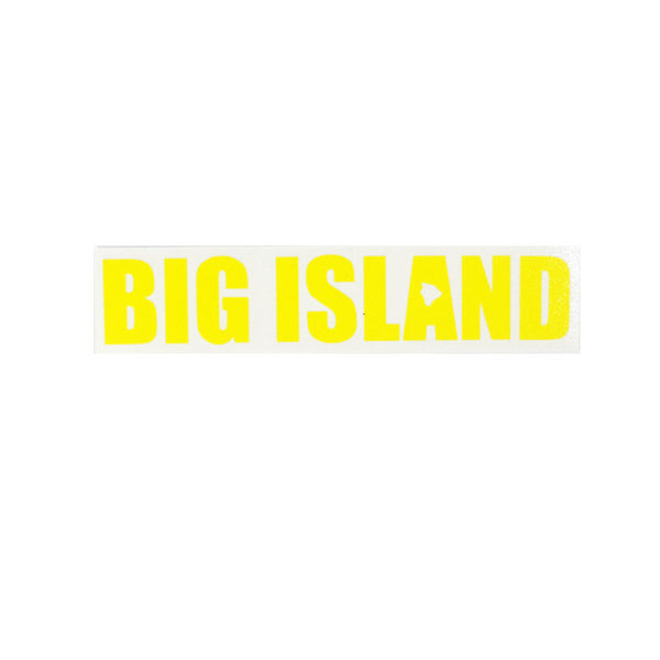 "Big Island 8"" x 1.55"" Diecut Sticker"