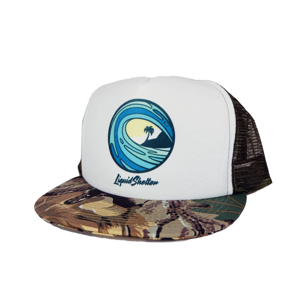 """Emblem"" Camo Trucker By Liquid Shelter"