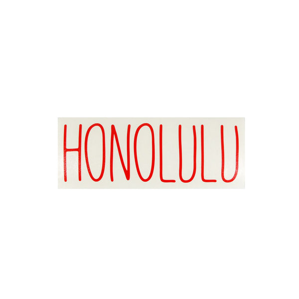Honolulu Skinny Diecut Sticker