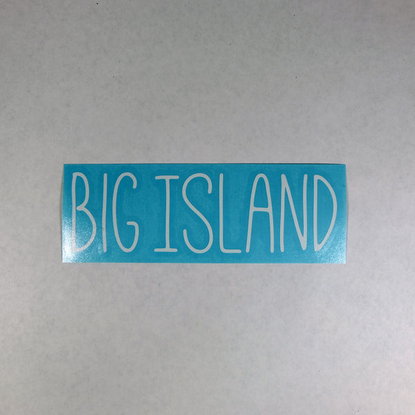 Big Island Skinny Diecut Sticker