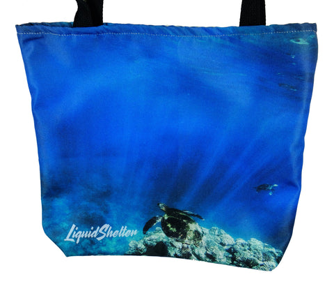 """2 Turtles AM"" Tote bag by Liquid Shelter"