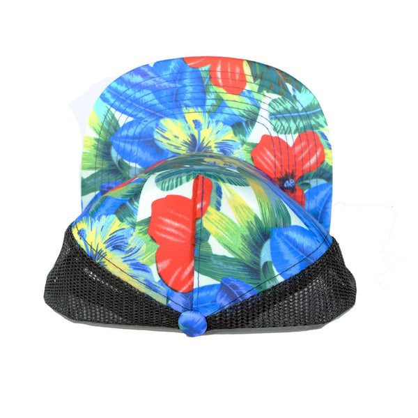 Otto Royal Flower Cap Foam Trucker Blank