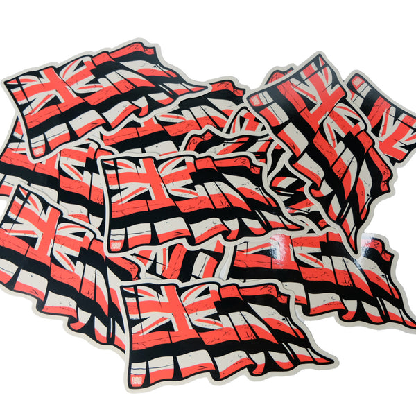 "Black/Red 6"" Torn Hawaii Flag"