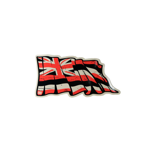 "Black/Red Torn 4"" Hawaii Flag  8/9"