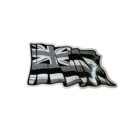 "Grey Torn Hawaii 4"" Flag  8/9"