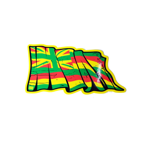 Yellow Torn Hawaii Flag 6""