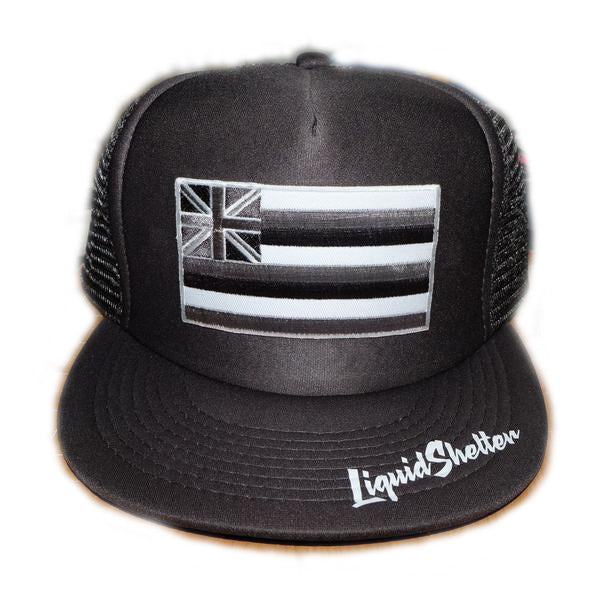 """Hawaii Grey Flag Patch"" Trucker By Liquid Shelter"