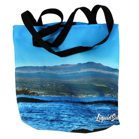 """Waiuli to Mauna Kea"" Tote Bag By Liquid Shelter"