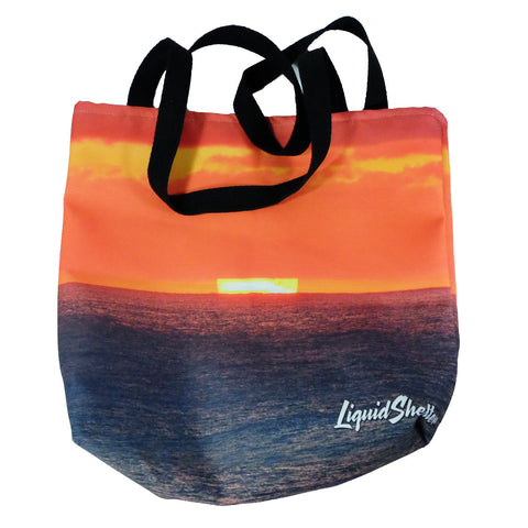 """Sherbet Sunset"" Tote Bag by Liquid Shelter 10-30-19"