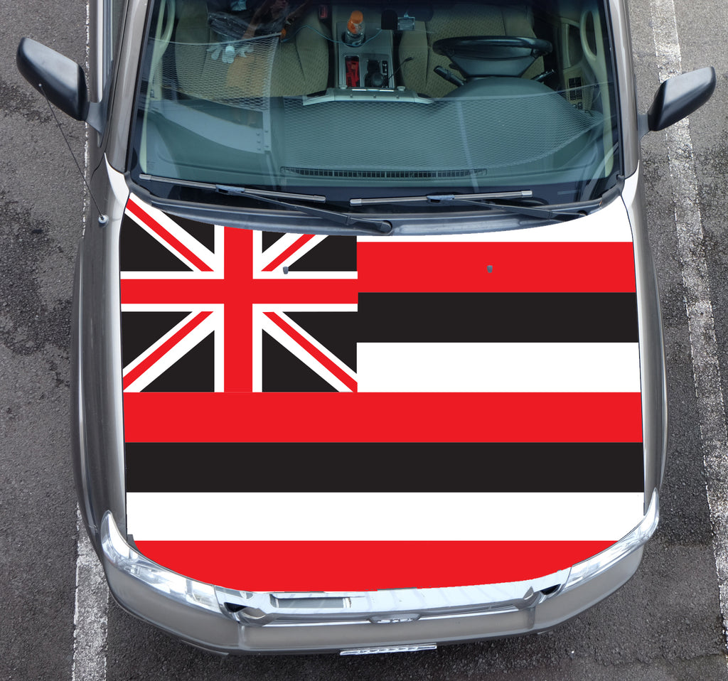 Hawaii Black Flag Hood Wrap (Tacoma 05-15)