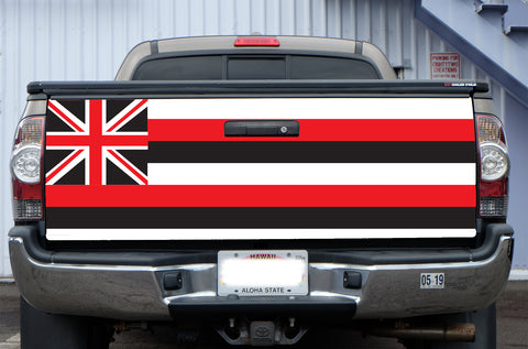 Hawaii Black Flag Tail Gate Wrap (Tacoma 05-19)