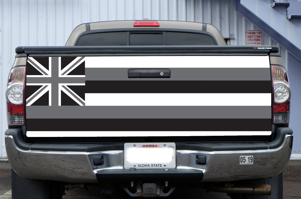 Hawaii Grey Flag Tail Gate Wrap (Tacoma 05-19)