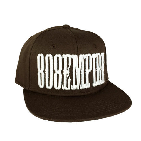 """Country"" Brown 3D Snapback By 808 Empire  8/9"