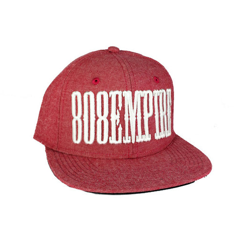 """Country"" RED CHAMBRAY 3D Snapback By 808 Empire  8/9"