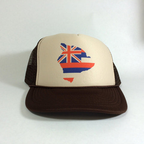 Hawaii Flag Big Island - Trucker 7/31
