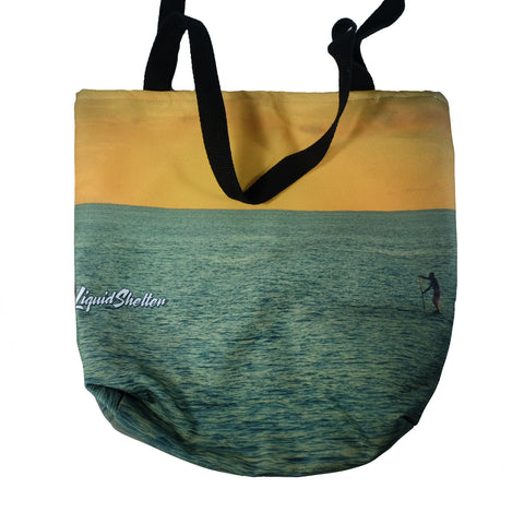 """Makaha Sunset"" Tote bag By Liquid Shelter 10-30-19"