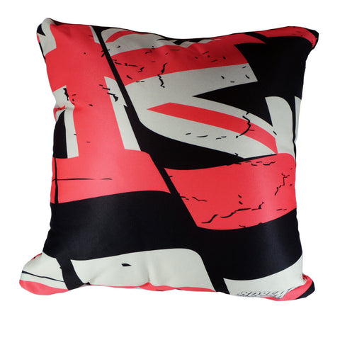 """Red Torn Flag"" Pillow by 808 Empire"