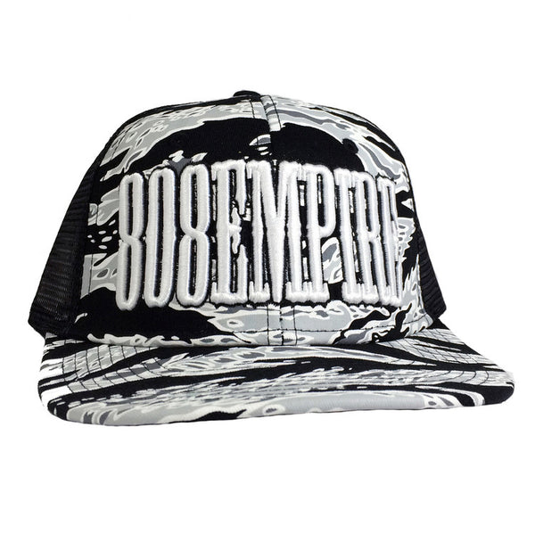 """Uppercut"" Camo Trucker By 808 Empire (White)"