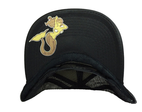 """Mermaid"" Black Trucker By Get Salty Hawaii"