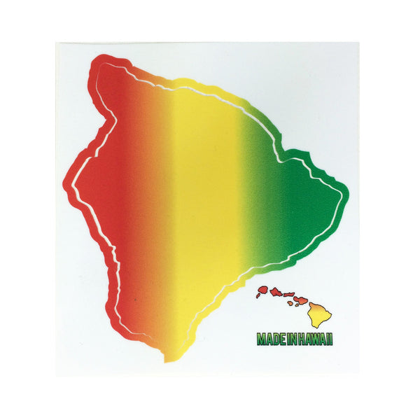 "Rasta Big Island 4"" Diecut Sticker"