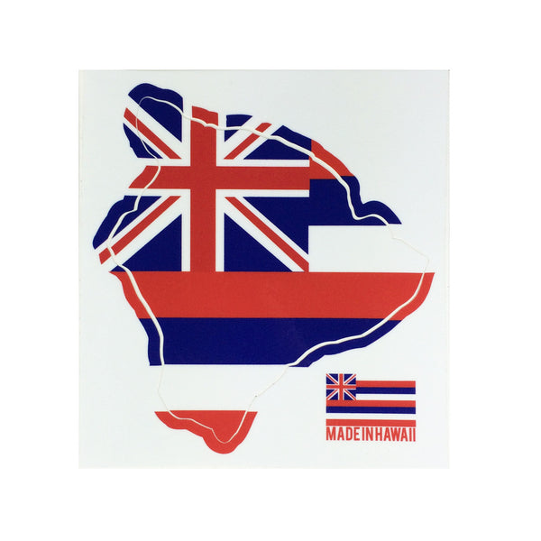 "Flag Big Island 6"" Diecut Sticker"