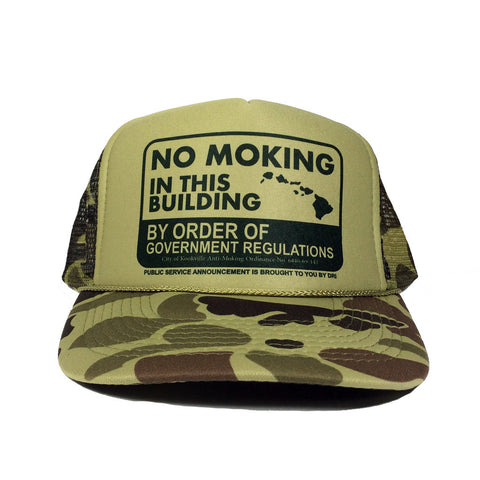 No Moking BLACK Trucker By DRI  8/9