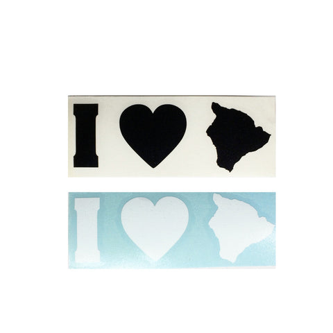 I Love Big Isle Diecut Sticker 7/31