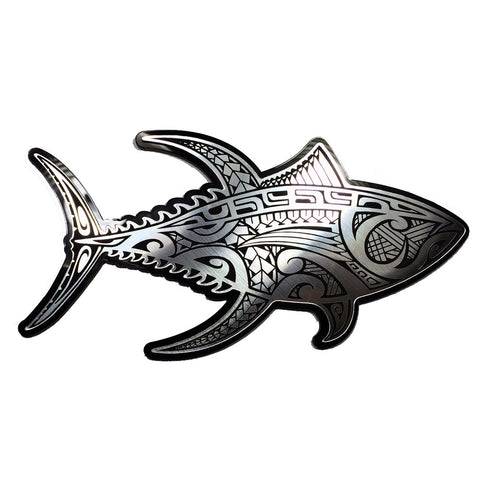 """Wicked Tuna"" Plexi-Decal By Island Silver (Silver on black) 7/31"