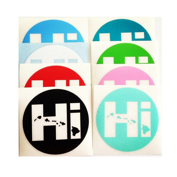 Hi Circle Diecut Sticker