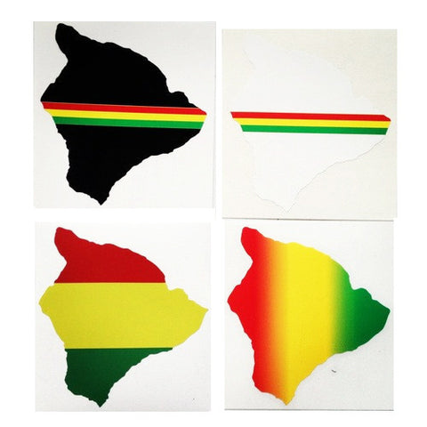 "Rasta Big Island 6"" Diecut Sticker  8/9"