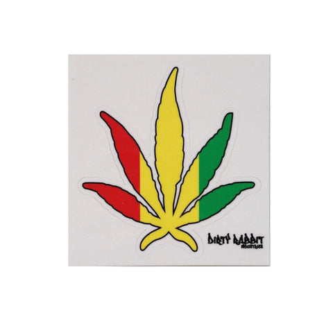 """Rasta Leaf"" 3"" Sticker By DRI"