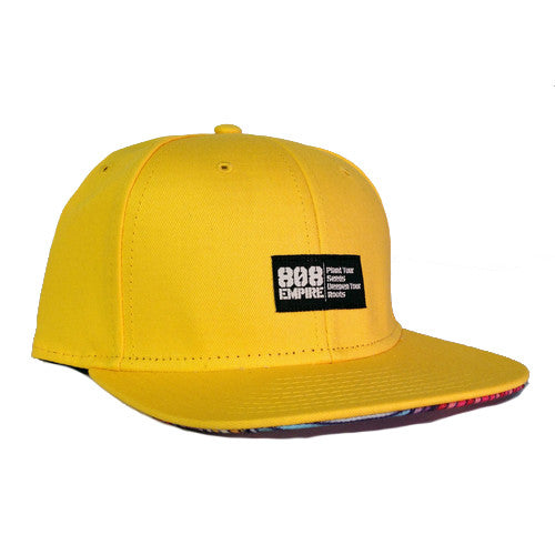 """Swavy"" YELLOW Woven Snapback By 808 Empire 10-30-19"