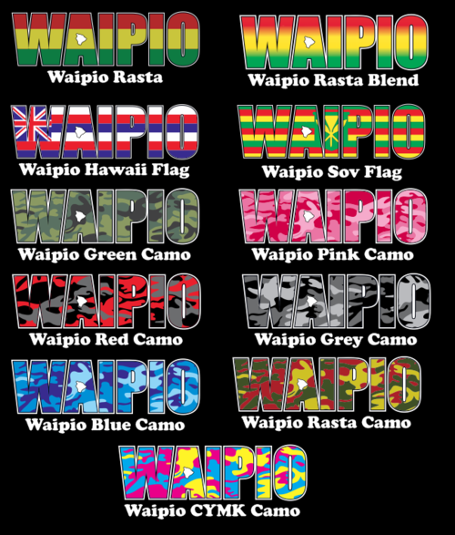 Waipio Impact Sticker  (click for colors)