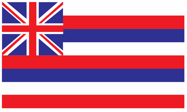 Hawaii Flag 5ft x 3ft (Fabric) (25pack)