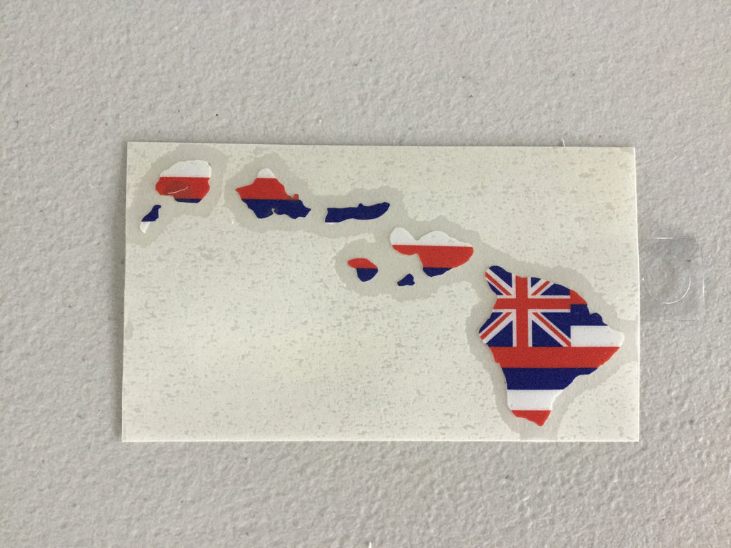 "Hawaii Flag Island Chain 5"" Sticker"