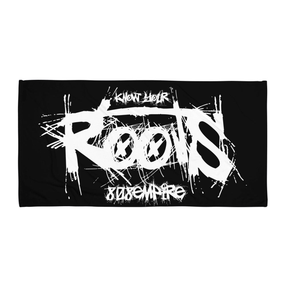 """Roots"" Black Towel by 808 Empire"