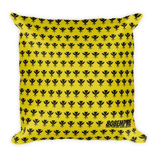 """Royal Standard"" Pillow by 808 Empire (Yellow) 7/31"