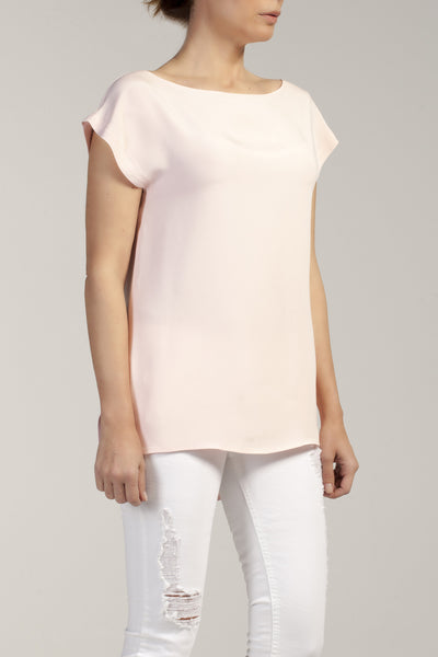 ARIA  silk - cady crew neck top