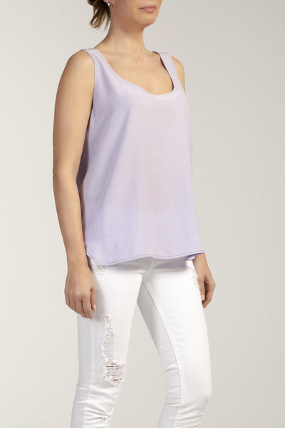 MIA  silk - crepe long top