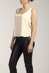 ISLA  silk - crepe short top