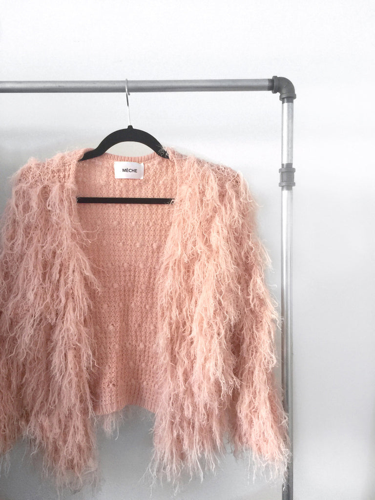 .04 LISA FURRY FUZZY ME SWEATER KNIT - DUSTY PINK