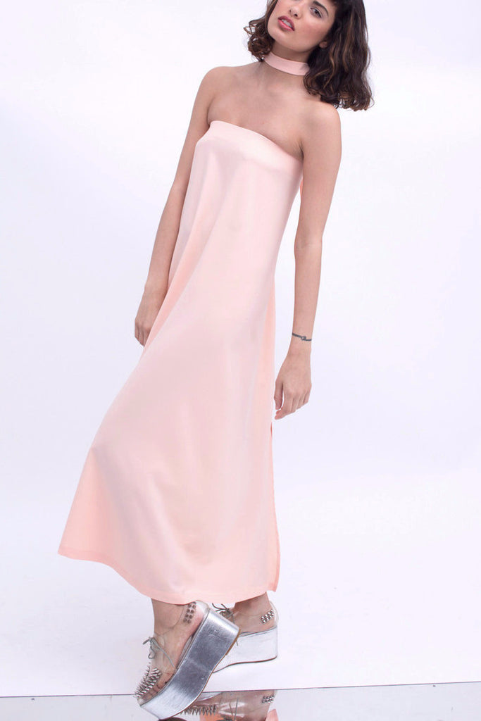 .02 Nouvelle Perspective Tube Dress - Peach