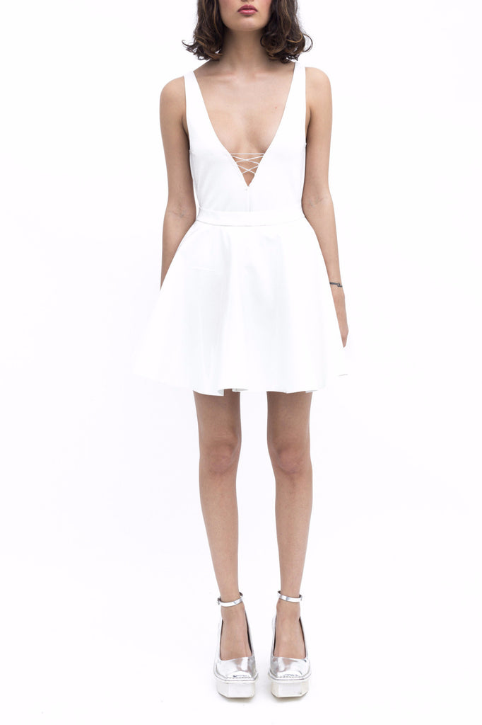 .01 Les Essentiels Bio Latex Skirt - White