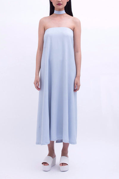 .02 Nouvelle Perspective Tube Dress - Blue