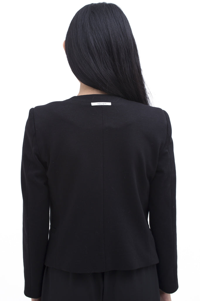 .01 Les Essentiels High Shoulder Blazer - Black