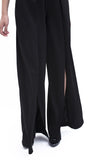 High Slit Pants - Black
