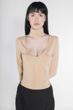 .03 TURTLE CHOKER DEEP-V TOP - NUDE